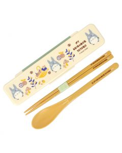 Skater Totoro Chopsticks & Spoon Set with Case