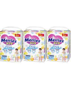 KAO Merries Pants Diaper (L) 44pc (Pack of 3)