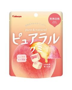 Kabaya Pureral Gummy Candy Peach 45g