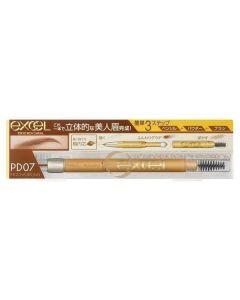 Excel Powder & Pencil Eyebrow Ex (PD07 Mocha Brown)