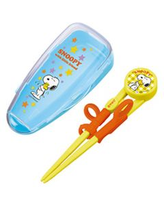 Skater Snoopy Deluxe Training Chopsticks Attached Case