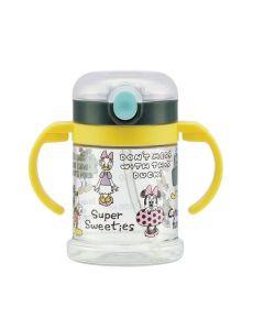 SKATER Disney Micky&Minnie Handle Mug with Straws 260ml