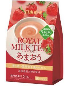 Nitto Tea Royal Milk Tea Strawberry Flavor 10 Sticks
