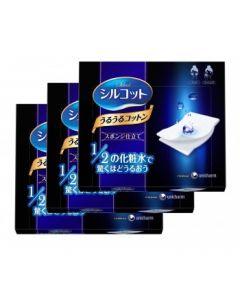 Unicharm Silcot Sponge Touch Moisturizing Cotton @cosme (40 Sheets) *3 Box