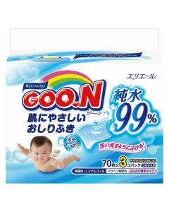 GOO.N Baby Wet Wipes Refill (3 Bags)