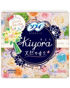 Unicharm Sofy Kiyora Pantiliner (Happy Floral White) 72pcs