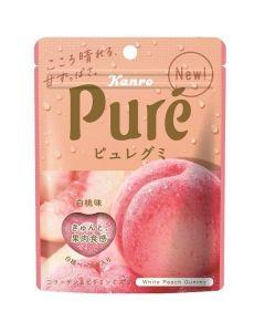 Kanro Pure Gummy White Peach