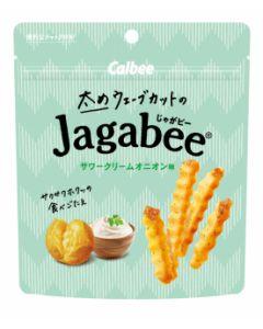 Calbee Jagabee Thick Wave Cut Potato Chips (Sour Cream) 35g