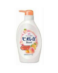 Kao Biore U Body Wash Liquid Soap Sweet Peach Pump Bottle 480ml