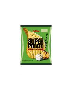 Calbee Super Potato Chips  Sour Cream and Onion Flavor 56g