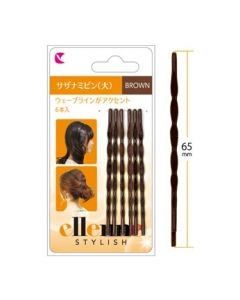 LUCKY TRENDY Bobby Pins Brown Large