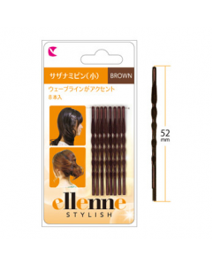 LUCKY TRENDY Bobby Pins Brown Small