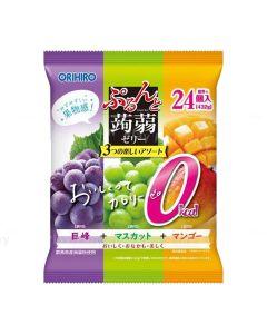 ORIHIRO Konjac Jelly 0 Calories 24pcs (Kyoho Grape, Muscat & Mango)