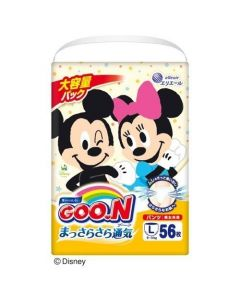 「Limited Mickey Edition」elleair GOO.N Diaper Pants L 56pc (Japan Domestic Version) (Ship to US and Canada Only)