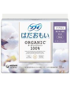 Unicharm Sofy Organic Cotton Especially For Daytime With Wings 26 cm (13 pieces)