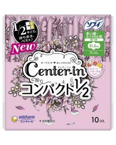 Unicharm Sofy Center-In Daily Wing Sanitary Pads 21.5cm (10 pcs)