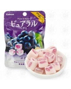 Kabaya Pureral Gummy Candy Grape 45g