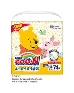 「Limited Winnie the Pool Edition」elleair GOO.N Diaper Pants M 74pcs (Japan Domestic Version) (Ship to US and Canada Only)
