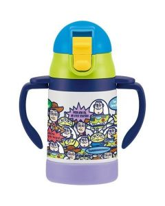 Skater Toy Story Stainless Steel Handle Mug with Straws 240ml