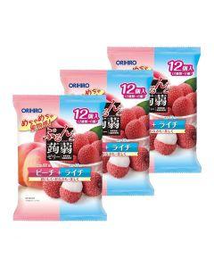 ORIHIRO Konjac Jelly (Lychee & Peach) (Pack of 3)