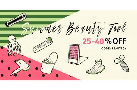 25-40%OFF Beauty Tools for Summer! 夏日护肤, 美容仪加持! 美容美发仪器75折起, 低至6折!