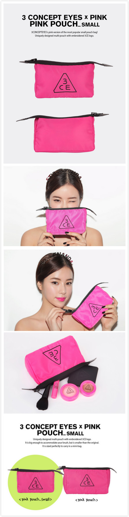 3CE Cosmetic Pouch